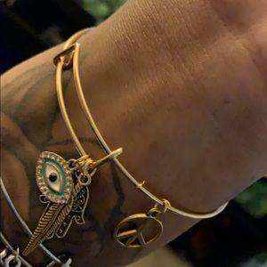 Jewelry - SOLD Gold Boho Peace Bangle